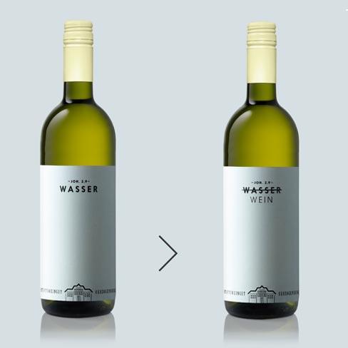 Wasser zu Wein